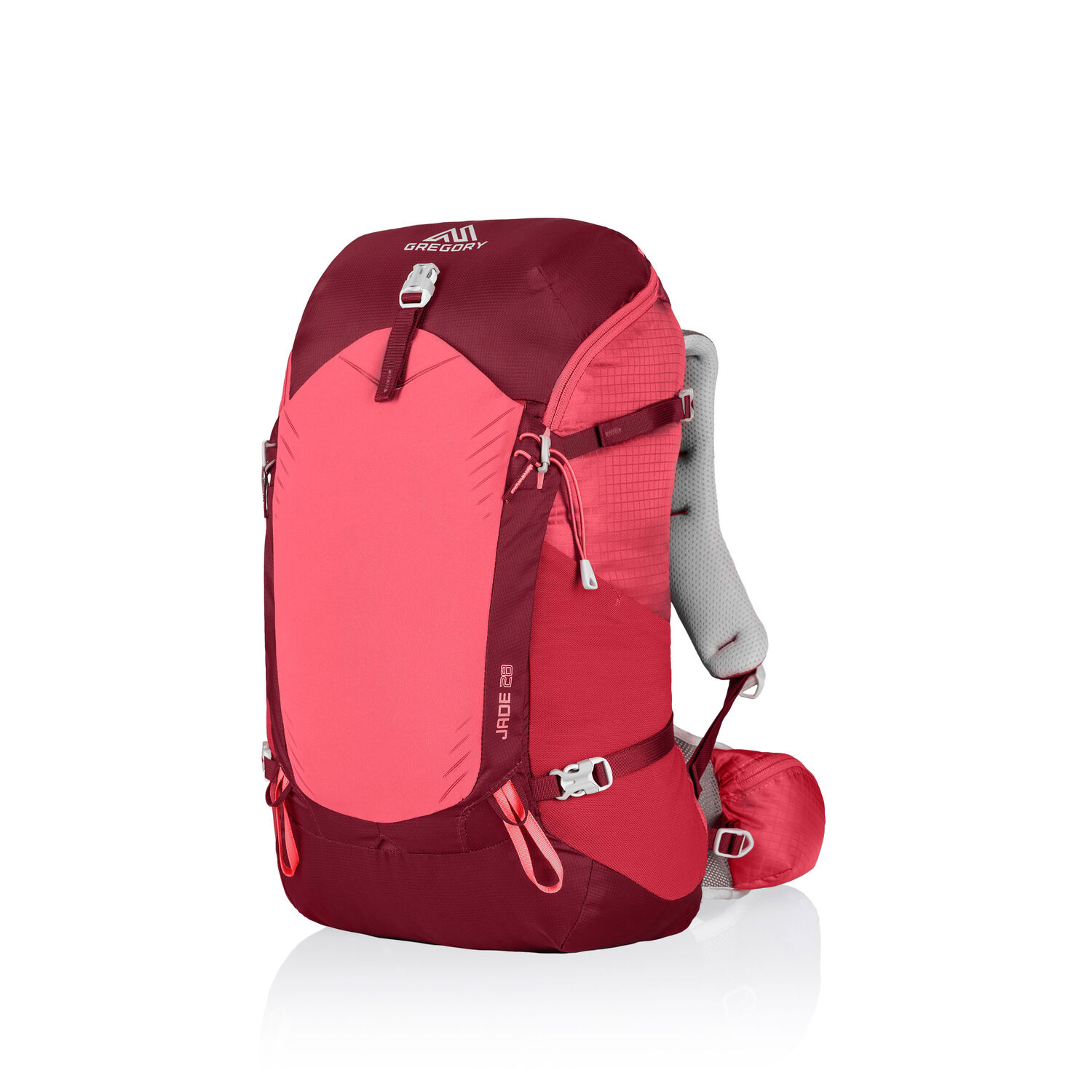 Jade 28 in the color Ruby Red.