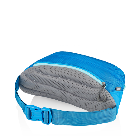Nano Waistpack in the color Mirage Blue.