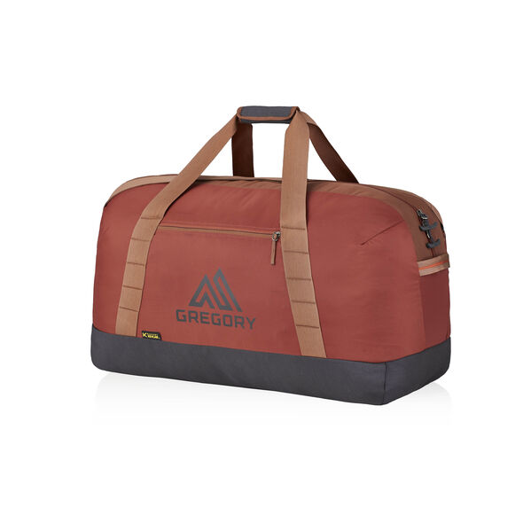 Supply Duffel 90 in the color Brick Red.