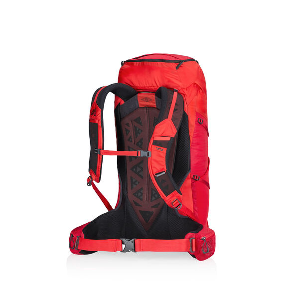 Paragon 38 in the color Citrus Red.