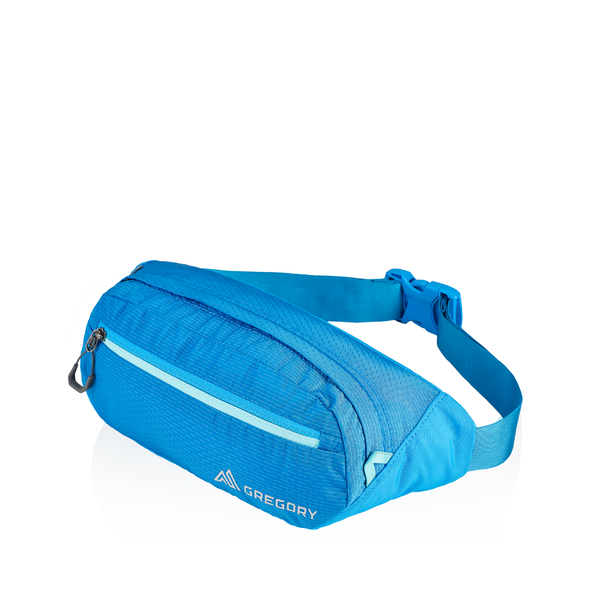 Nano Waistpack Mini in the color Mirage Blue.