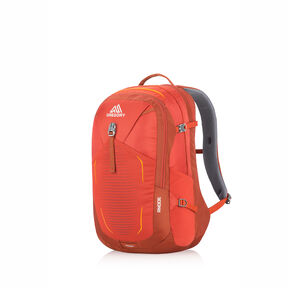 Anode Daypack in the color Ferrous Orange.