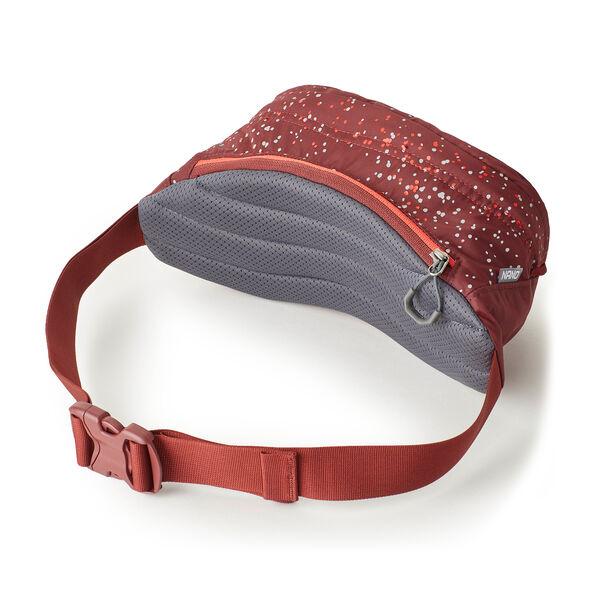 Nano Waistpack in the color Bordeaux Reflective.