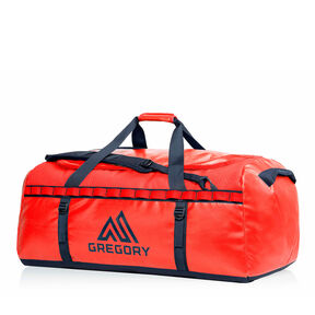 Alpaca 90 Duffel in the color Flame Red.